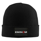 Hittings Oyoloy Eminem Logo Knit Cap Woolen Hat For Unisex Black
