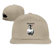 Hittings Bruce Springsteen Unisex Fashion Cool Adjustable Snapback Baseball Cap Hat One Size Natural