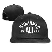 Muhammad Ali Adjustable Snapback Flat Baseball Hat Cap For Unisex Black