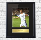 Cristiano Ronaldo Signé Photo Montage Affichage Real Madrid Fc, Framed