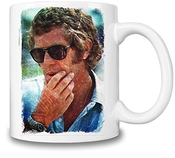 Steve Mcqueen The Man And Le Mans Portrait Tasse Coffee Mug Ceramic Coffee Tea Beverage Kitchen Mugs By Slick Stuff