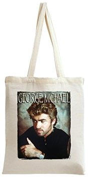 George Michael Glamour Portrait Sac à Main Tote Bag Shoulder Messenger Shopping Gym Leisure Bags By Genuine Fan Merchandise