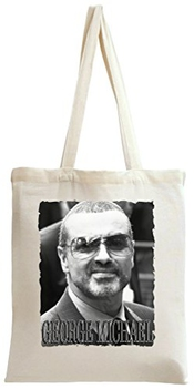 George Michael Portrait Sac à Main Tote Bag Shoulder Messenger Shopping Gym Leisure Bags By Genuine Fan Merchandise