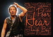 Bruce Springsteen - la Rivière - paroles Poster - pop Star Legend Superstar King Best Couleur Unique Imprimé Photo A4 poster Mural