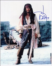 Johnny Depp Autographe Imprimé Photo Brillant