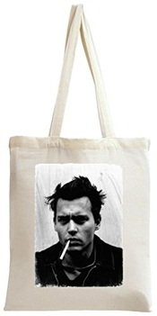 Johnny Depp Smoking Retro Tote Bag