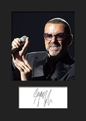 George Michael # 1 photo Encadrée Signée A5 print