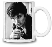 Alain Delon Black White Portrait Mug Cup