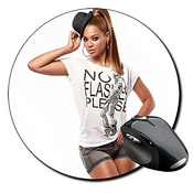 Beyonce Knowles C Tapis De Souris Ronde Round Mousepad Pc