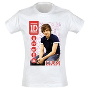 One Direction - Liam - T-shirt Femme, Blanc, X-large
