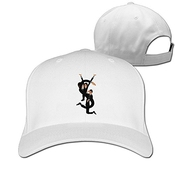 Hittings Unisex Ysl Yves Saint Laurent Saint Cotton Snapback Baseball Cap Hip Hop Hats White