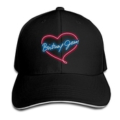 Hittings Britney Spears Sandwich Peaked Hat/cap Black