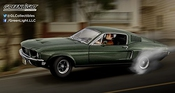 Greenlight Collectibles - 12938 - Ford Mustang Gt 390 Bullitt - Steve Mcqueen - 1968 - Echelle 1/18 - Vert