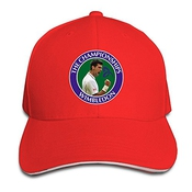 Hittings Novak Djokovic Sandwich Peaked Hat/cap Red