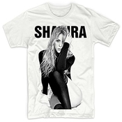 Sujira Men's Shakira Sexy Censored Fashion T-shirt White