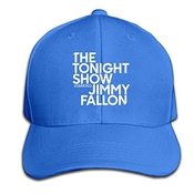 Huseki Custom The Tonight Show Starring Jimmy Fallon Cotton Baseball Cap Peaked Hat Adjustable For Unisex Black Royalblue
