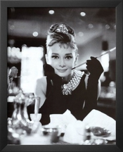 Professionally Framed Audrey Hepburn Breakfast At Tiffany's Movie Poster - 16x20 With Richandframous Black Wood Frame By Poster Revolution