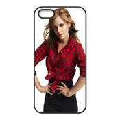 Emma Watson Red Shirt Coque Iphone 4 4s Cellulaire Cas Coque De Téléphone Cas Téléphone Cellulaire Noir Couvercle Eeexlknbc24902
