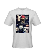 Diy Johnny Depp Men's 100% Cotton Short Sleeve T-shirt