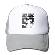 Feruch Jade Custom Adjustable Mesh Ariana Singer Grande Cute Cartoon Poster 433 Sports Visor Cap Black Ash