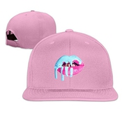 Hittings Tom Cool Unisex Kylie Jenner Lips Baseball Hat Pink Pink