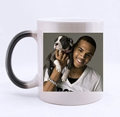 Custom Morphing Mugs Chris Brown Lait Froid Ou Chaud-thermosensible Change De Couleur Blanc Et Noir Céramique Mug De 30 Cl