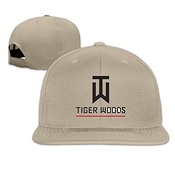Huseki Tiger Logo Woods Custom Baseball Cap Hip Hop Cap Adjustable Snapback Flat Bill Ash Natural