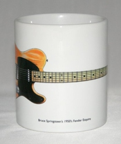 Mug De La Guitare. Illustration De Fender Esquire De Bruce Springsteen Des Années 1950.