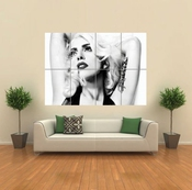 Lady Gaga Black And White Giant Wall Art Print Picture Poster Affiche G1182