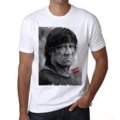 Sylvester Stallone 2 T-shirt,cadeau,homme,blanc,t Shirt Homme
