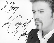 Wham. ? george Michael Authentique à La Main Signé Autographe Aftal Coa