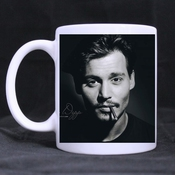 Refreshus Johnny Depp Custom Ceramic Coffee/tea Home Cup White Mug By Refreshus