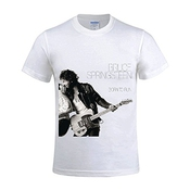 Bruce Springsteen Born To Run Homme T Shirts Round Neck Customized Large