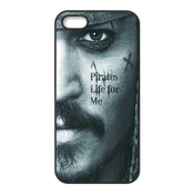 Diy Johnny Depp Jack Sparrow De Pirates Pirates Des Caraïbes Custom Shell Housse Coque En Tpu Pour Iphone 5/5s (technologie Laser)