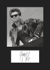 George Michael # 2 photo Encadrée Signée A5 print