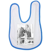 Blue Baby Bib With Steve Mcqueen In A Conversation With Man.