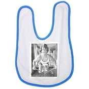 Sylvester Stallone While Exercising. Baby Bib In Blue, Baby Boy Bibs, Dribble Bibs, Cool Baby Boy Bibs, Best Baby Bibs, Best Bibs, Best Dribble Bibs, Best Baby Bibs For Drooling, Cute Baby Bibs, Cut