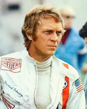 Steve Mcqueen As Michael Delaney From Le Mans #3 - Photo Cinématographique En Couleur - Affiche - 60x50cm