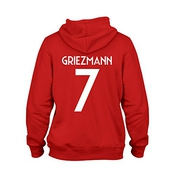 Antoine Griezmann 7 Club Player Style Kids Hoodie Red/white