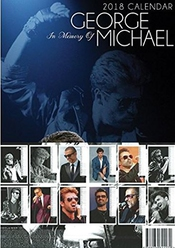George Michael Calendrier 2018 grande (a3) Taille Poster Calendrier Mural Neuf Et Usine Fermé