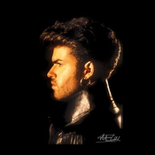 Martyn Goddard Official Photography - George Michael Side Profile 1986 Men's Sweatshirt