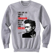 Teesquare1st Men's James Dean 3 Grey Sweatshirt