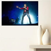 Aux Prix Canons - Poster Johnny Hallyday Legende Rock Star Scene Chant 61 X 91 Cm