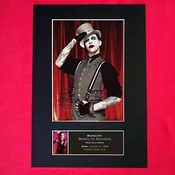 Marilyn Manson Signed Reproduction Autograph Mounted Photo Print