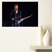 Aux Prix Canons - Poster Johnny Hallyday Legende Rock Star Scene Guitare 61 X 87 Cm