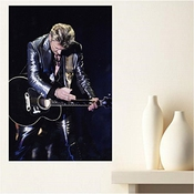 Aux Prix Canons - Poster Johnny Hallyday Rock Star Legende Scene Guitare 61 X 91 Cm
