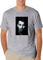 Johnny Depp Sexy Smoking T-shirt Men's Classic T-shirt