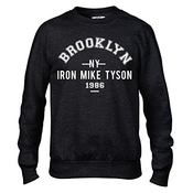 Fer Mike Tyson Brooklyn Boxe Premium Noir Pou Hommes Sweat-shirt Col Rond