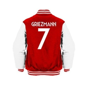 Antoine Griezmann 7 Club Player Style Kids Varsity Jacket Red/white/white