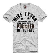 E1syndicate T-shirt Iron Mike Tyson Kid Dynamite Evander Holyfield Dope Tiger Grey S-xl